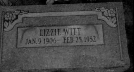 "WITT, MARY ELIZABETH ""LIZZIE"" - Logan County, Arkansas 