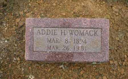 WOMACK, ADDIE H - Logan County, Arkansas | ADDIE H WOMACK - Arkansas Gravestone Photos