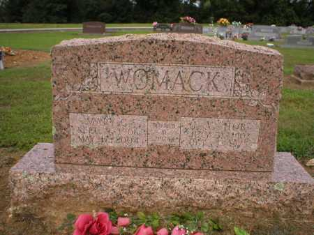 "WOMACK, J A  ""HOB"" - Logan County, Arkansas 