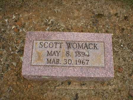 WOMACK, SCOTT - Logan County, Arkansas | SCOTT WOMACK - Arkansas Gravestone Photos