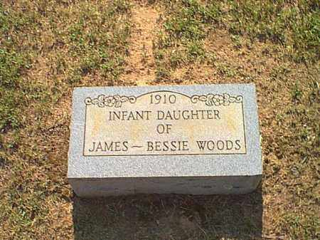 WOODS, INFANT DAUGHTER - Logan County, Arkansas | INFANT DAUGHTER WOODS - Arkansas Gravestone Photos