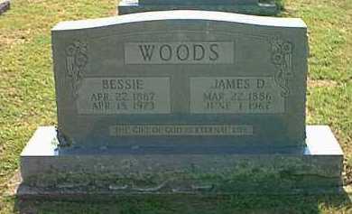 WOODS, JAMES D. - Logan County, Arkansas | JAMES D. WOODS - Arkansas Gravestone Photos