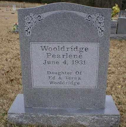 WOOLDRIDGE, PEARLENE - Logan County, Arkansas | PEARLENE WOOLDRIDGE - Arkansas Gravestone Photos