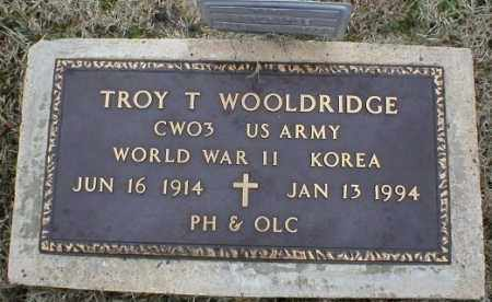 WOOLDRIDGE (VETERAN 2 WARS), TROY T - Logan County, Arkansas | TROY T WOOLDRIDGE (VETERAN 2 WARS) - Arkansas Gravestone Photos