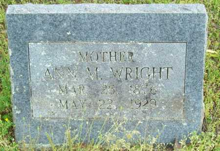 WRIGHT, ANN M. - Logan County, Arkansas | ANN M. WRIGHT - Arkansas Gravestone Photos