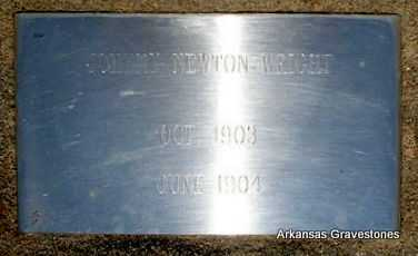 WRIGHT, JOHNNY NEWTON - Logan County, Arkansas | JOHNNY NEWTON WRIGHT - Arkansas Gravestone Photos