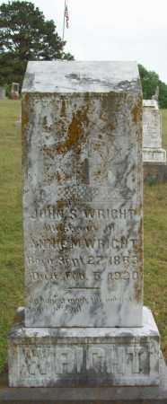 WRIGHT, JOHN S - Logan County, Arkansas | JOHN S WRIGHT - Arkansas Gravestone Photos