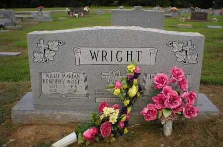 HUMPHREY WRIGHT, WILLIE MARION - Logan County, Arkansas | WILLIE MARION HUMPHREY WRIGHT - Arkansas Gravestone Photos