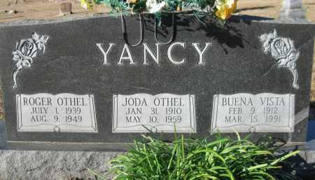 YANCY, BUENA VISTA - Logan County, Arkansas | BUENA VISTA YANCY - Arkansas Gravestone Photos