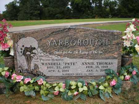 THOMAS YARBOROUGH, ANNIE MAY - Logan County, Arkansas | ANNIE MAY THOMAS YARBOROUGH - Arkansas Gravestone Photos