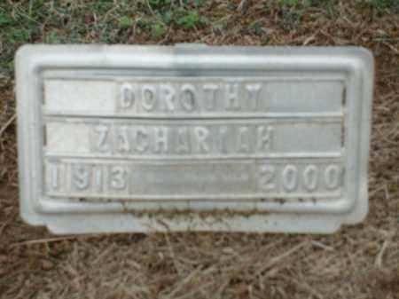 ZACHARIAH, DOROTHY - Logan County, Arkansas | DOROTHY ZACHARIAH - Arkansas Gravestone Photos