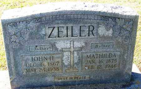ZEILER, JOHN H - Logan County, Arkansas | JOHN H ZEILER - Arkansas Gravestone Photos