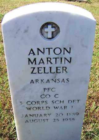 ZELLER (VETERAN WWI), ANTON MARTIN - Logan County, Arkansas | ANTON MARTIN ZELLER (VETERAN WWI) - Arkansas Gravestone Photos