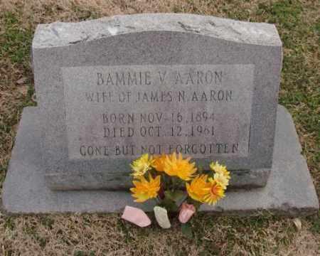 AARON, BAMMIE V. - Lonoke County, Arkansas | BAMMIE V. AARON - Arkansas Gravestone Photos