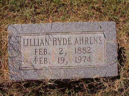 HYDE AHRENS, LILLIAN - Lonoke County, Arkansas | LILLIAN HYDE AHRENS - Arkansas Gravestone Photos