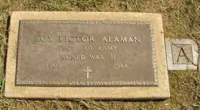 ALAMAN  (VETERAN WWII), ROY VICTOR - Lonoke County, Arkansas | ROY VICTOR ALAMAN  (VETERAN WWII) - Arkansas Gravestone Photos