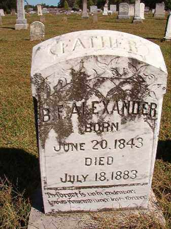 ALEXANDER, B F - Lonoke County, Arkansas | B F ALEXANDER - Arkansas Gravestone Photos