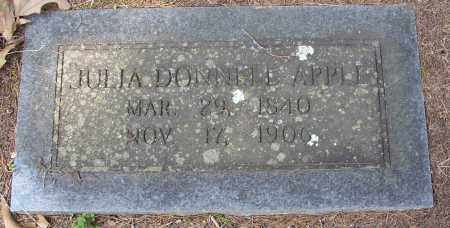 APPLE, JULIA DONNELL - Lonoke County, Arkansas | JULIA DONNELL APPLE - Arkansas Gravestone Photos