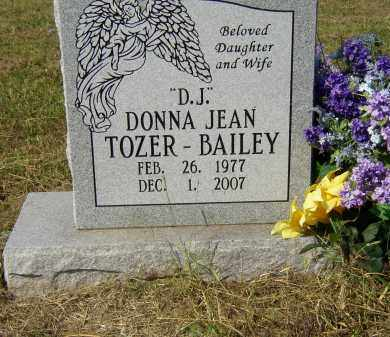 "TOZER BAILEY, DONNA JEAN ""D J"" - Lonoke County, Arkansas 