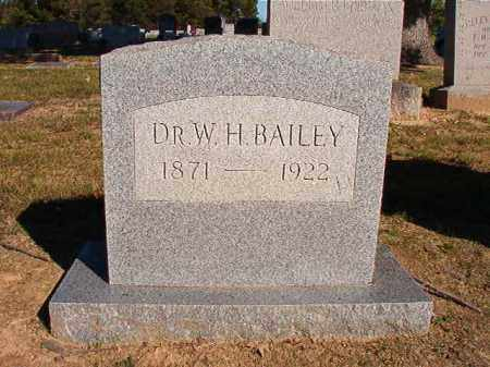 BAILEY, DR, W H - Lonoke County, Arkansas | W H BAILEY, DR - Arkansas Gravestone Photos