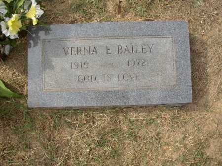BAILEY, VERNA E. - Lonoke County, Arkansas | VERNA E. BAILEY - Arkansas Gravestone Photos