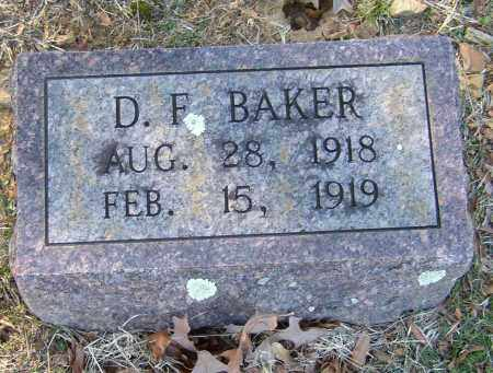 BAKER, D. F. - Lonoke County, Arkansas | D. F. BAKER - Arkansas Gravestone Photos