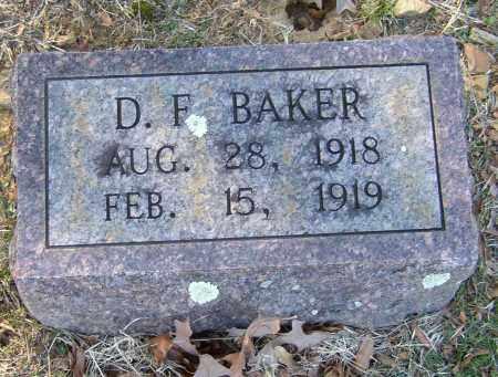 BAKER, D. F. - Lonoke County, Arkansas | D. F. BAKER - Arkansas Gravestone Photos