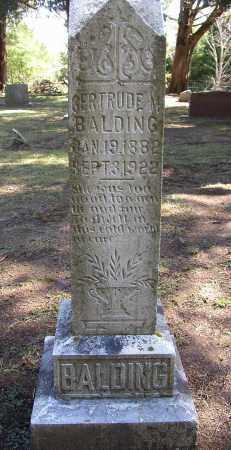 BALDING, GERTRUDE M. - Lonoke County, Arkansas | GERTRUDE M. BALDING - Arkansas Gravestone Photos