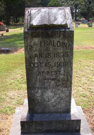 BALDING, GEORGE I. - Lonoke County, Arkansas | GEORGE I. BALDING - Arkansas Gravestone Photos
