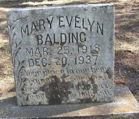 BALDING, MARY EVELYN - Lonoke County, Arkansas | MARY EVELYN BALDING - Arkansas Gravestone Photos