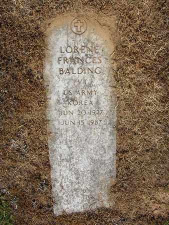 BALDING (VETERAN KOR), LORENE FRANCES - Lonoke County, Arkansas   LORENE FRANCES BALDING (VETERAN KOR) - Arkansas Gravestone Photos