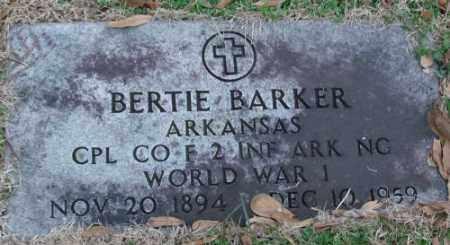 BARKER (VETERAN WWI), BERTIE - Lonoke County, Arkansas | BERTIE BARKER (VETERAN WWI) - Arkansas Gravestone Photos