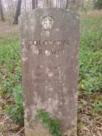 BROWN  (VETERAN), SOLOMON - Lonoke County, Arkansas | SOLOMON BROWN  (VETERAN) - Arkansas Gravestone Photos