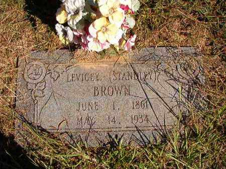 STANDLEY BROWN, LEVICEY - Lonoke County, Arkansas | LEVICEY STANDLEY BROWN - Arkansas Gravestone Photos