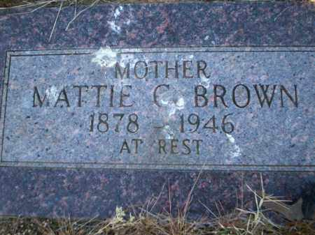 BROWN, MATTIE C - Lonoke County, Arkansas | MATTIE C BROWN - Arkansas Gravestone Photos