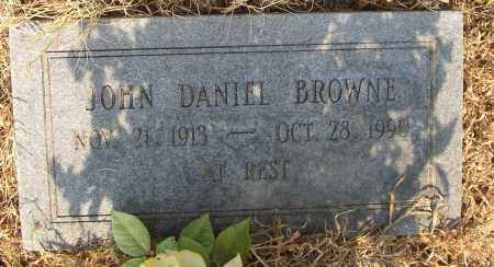 BROWNE, JOHN DANIEL - Lonoke County, Arkansas | JOHN DANIEL BROWNE - Arkansas Gravestone Photos