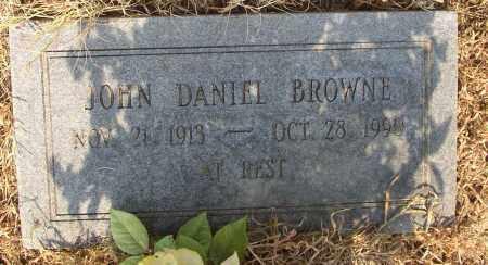 BROWNE, JOHN DANIEL - Lonoke County, Arkansas   JOHN DANIEL BROWNE - Arkansas Gravestone Photos
