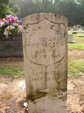 BURGESS (VETERAN SAW), SEYMOUR B - Lonoke County, Arkansas | SEYMOUR B BURGESS (VETERAN SAW) - Arkansas Gravestone Photos
