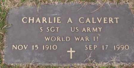 CALVERT (VETERAN WWI), CHARLIE A - Lonoke County, Arkansas | CHARLIE A CALVERT (VETERAN WWI) - Arkansas Gravestone Photos