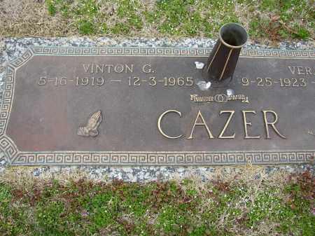 CAZER, VINTON G. - Lonoke County, Arkansas | VINTON G. CAZER - Arkansas Gravestone Photos
