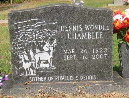 CHAMBLEE, DENNIS WONDLE - Lonoke County, Arkansas | DENNIS WONDLE CHAMBLEE - Arkansas Gravestone Photos