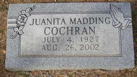 MADDING COCHRAN, JUANITA - Lonoke County, Arkansas | JUANITA MADDING COCHRAN - Arkansas Gravestone Photos