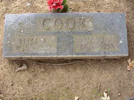 COOK, ELIZA A. - Lonoke County, Arkansas | ELIZA A. COOK - Arkansas Gravestone Photos