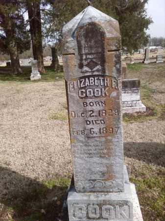COOK, ELIZABETH F. - Lonoke County, Arkansas | ELIZABETH F. COOK - Arkansas Gravestone Photos