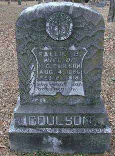 COULSON, SALLIE B - Lonoke County, Arkansas | SALLIE B COULSON - Arkansas Gravestone Photos
