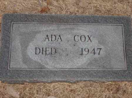 COX, ADA - Lonoke County, Arkansas | ADA COX - Arkansas Gravestone Photos