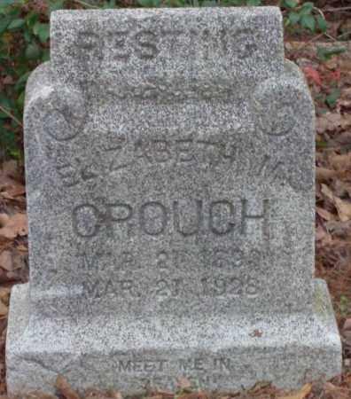 CROUCH, ELIZABETH M - Lonoke County, Arkansas | ELIZABETH M CROUCH - Arkansas Gravestone Photos
