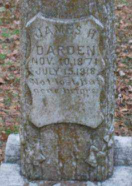 DARDEN, JAMES H - Lonoke County, Arkansas | JAMES H DARDEN - Arkansas Gravestone Photos