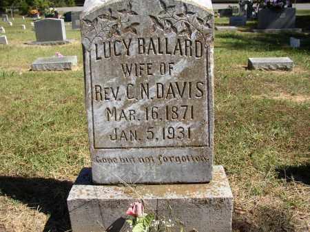 BALLARD DAVIS, LUCY - Lonoke County, Arkansas | LUCY BALLARD DAVIS - Arkansas Gravestone Photos