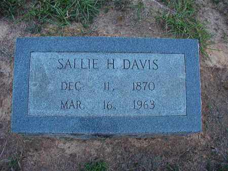 DAVIS, SALLIE H - Lonoke County, Arkansas | SALLIE H DAVIS - Arkansas Gravestone Photos